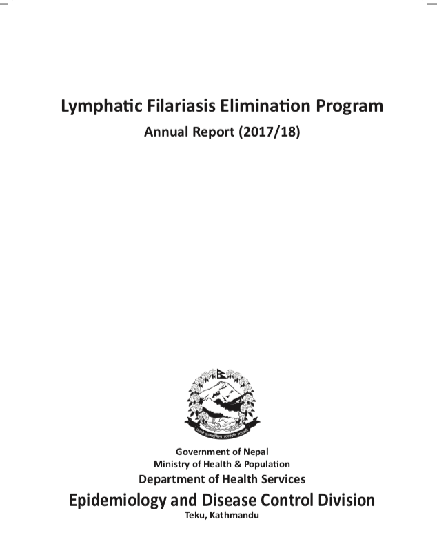 LYMPHATIC FILARIASIS_ANNUAL REPORT 2017/18 | NID - Resources